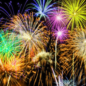 Fireworks are made of dried chemicals