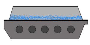 Vibrating Fluid Bed illustration